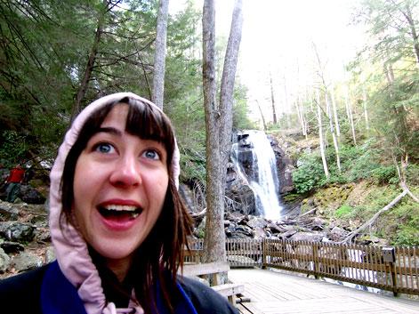 Sara at the falls