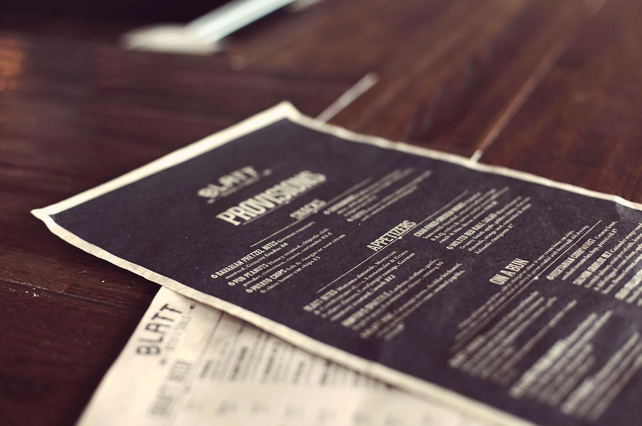 blatt-menus